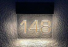 LED Beleuchtete Hausnummer Premium Line S 180mm