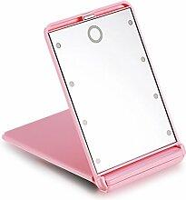 LED beleuchtete Spiegel Falten Kosmetikspiegel Trompete Kosmetikspiegel Portable niedlichen kleinen Spiegel-B