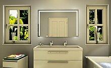 LED beleuchteter Badspiegel Badezimmerspiegel mit LED Beleuchtung Wandspiegel WC Spiegel Ocean (Breite: 40 x Höhe: 70 cm)