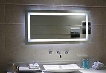 LED-Beleuchtung Badspiegel GS099N Lichtspiegel Wandspiegel Badzimmerspiegel Tageslichtweiß IP44 (120 x 60 cm)