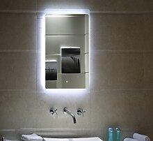 LED Beleuchtung TOUCH SCHALTER Badspiegel GS044 Lichtspiegel Wandspiegel (50 x 70 cm)
