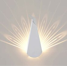 LED Bett Wandbeleuchtung, Eisen Pfau Wandlampe