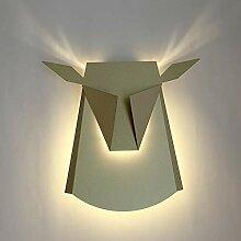 LED Bett Wandlampe, Eisen Geweih Wandbeleuchtung