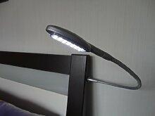 LED Bettleuchte BETA-C, Nachttischlampe, Bettbeleuchtung, 2er SET, chrom