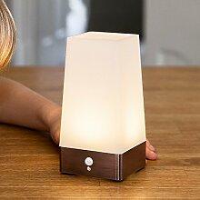 LED Bewegungsmelder Tischleuchte Nachtlicht Sensor eckig Lights4fun