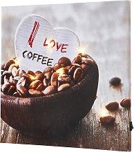 LED-Bild Coffee, braun