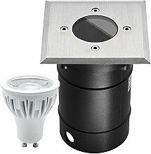 LED Bodeneinbaustrahler Set mit dimmbaren 7W LED