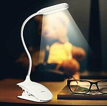 LED Buchlampe Klemmleuchte, Ranaico USB