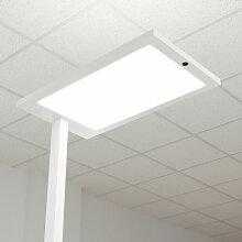 LED-Büro-Stehlampe Almira mit Dimmer, weiß