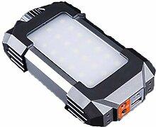 LED-Camping-Laterne, tragbar, wiederaufladbar, mit