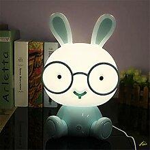 LED Cartoon Brille Kaninchen Nachtlicht Touch