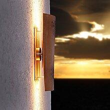 LED-Dachziegelleuchte | Aussenwandleuchte Assisi | Wandlampe Up&Down | Außenleuchte Höhe 44 cm | Wandleuchte Dachziegel