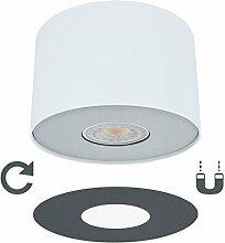 LED Decken Aufbauspot weiß mit wechselbarer Lampen Abdeckung (Silber/Graphit) inkl. LED Leuchtmittel GU10 5W warmweiß 2700K