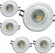 LED Decken Einbauleuchten 230V inkl. 5 x 7W LED LM