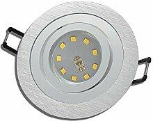 LED Decken Einbauleuchten 230V inkl. 8 x 5W MCOB