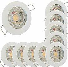 LED Decken Einbaustrahler 12V inkl. 10 x 5W LED LM