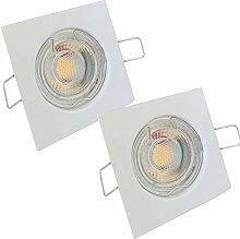 LED Decken Einbaustrahler 12V inkl. 2 x 5W LED LM