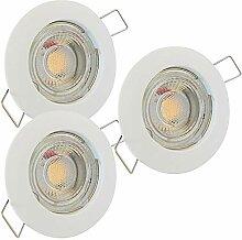 LED Decken Einbaustrahler 12V inkl. 3 x 3W LED LM