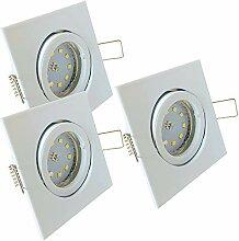 LED Decken Einbaustrahler 12V inkl. 3 x 3W SMD LM