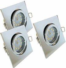 LED Decken Einbaustrahler 12V inkl. 3 x 5W SMD LM