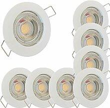LED Decken Einbaustrahler 12V inkl. 8 x 5W LED LM