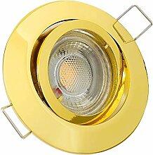 LED Decken Einbaustrahler 230V inkl. 1 x 7W LED LM