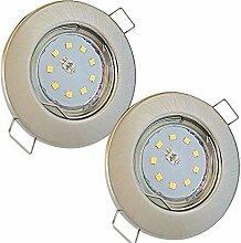 LED Decken Einbaustrahler 230V inkl. 2 x 5.5W SMD