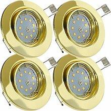 LED Decken Einbaustrahler 230V inkl. 4 x 7W SMD