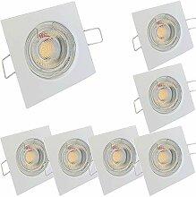 LED Decken Einbaustrahler 230V inkl. 7 x 7W LED LM