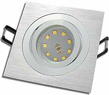 LED Decken Einbaustrahler 230V inkl. 8 x 7W SMD