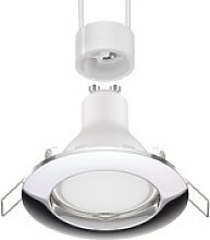 LED Decken-Einbaustrahler CIRC chrom GU10 6,8W