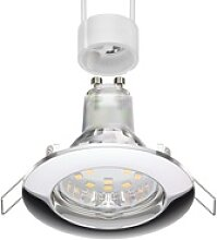 LED Decken-Einbaustrahler CIRC chrom GU10 LED