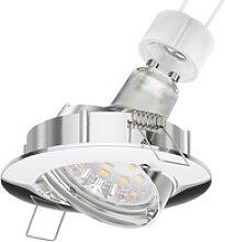 LED Decken-Einbaustrahler CIRC schwenkbar chrom