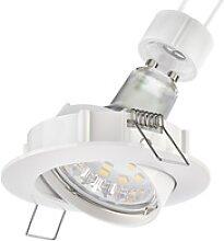LED Decken-Einbaustrahler CIRC schwenkbar weiß