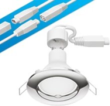 LED Decken-Einbaustrahler DEX chrom GU10 4,5W
