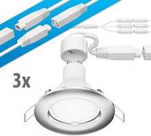 LED Decken-Einbaustrahler DEX chrom matt GU10 4,5W