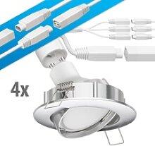 LED Decken-Einbaustrahler DEX chrom matt