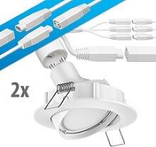 LED Decken-Einbaustrahler DEX schwenkbar GU10 4,5W