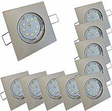 LED Decken Einbaustrahler flach 230V inkl. 10 x 5W