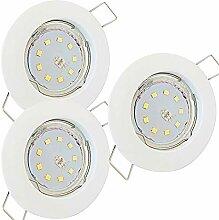 LED Decken Einbaustrahler flach 230V inkl. 3 x 7W