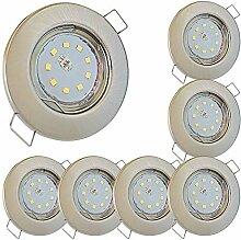 LED Decken Einbaustrahler flach 230V inkl. 7 x 5W