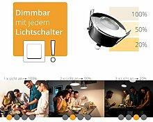 LED Decken-Einbaustrahler flach IP65 chrom mit