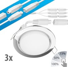 LED Decken-Einbaustrahler RUBA chrom 420lm weiß