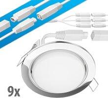 LED Decken-Einbaustrahler RUBA chrom GX53 6,3W