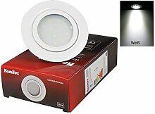 LED Decken Einbaustrahler Sina 12V 3W SMD Schränke, Möbel, Decken, Bad Loch 54mm Abstrahlwinkel: 120° Farbe: Weiss Lichtfarbe: Kaltweiss