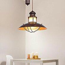 LED Decken Hänge Lampe Landhaus braun Wohn Zimmer
