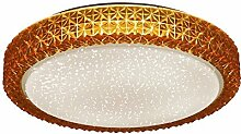 LED Decken Leuchte Amber rund 40 cm Kristalle
