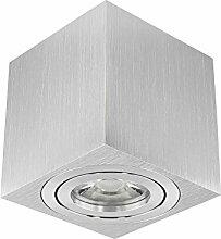LED Decken-Leuchte Aufbau-Spot Alu schwenkbar für 230V Deckenlampe Aufbauleuchte Aufbaustrahler inkl.LED Leuchtmittel 5W neutral-weiß 4000K