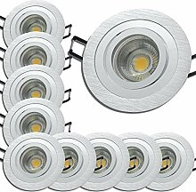 LED Deckeneinbauspots 230V inkl. 10 x 5W LED LM