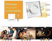 LED Deckeneinbaustrahler flach Einbautiefe nur